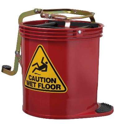 Contractor Wringer Bucket – Red